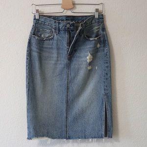 Deconstructed Side Slit  Skirt